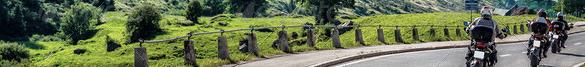 Gruppe Motorrad Fahrer in der Natur